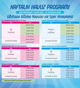 Bağcılar Göztepe Spor Kompleksi Yüzme Havuz Programı