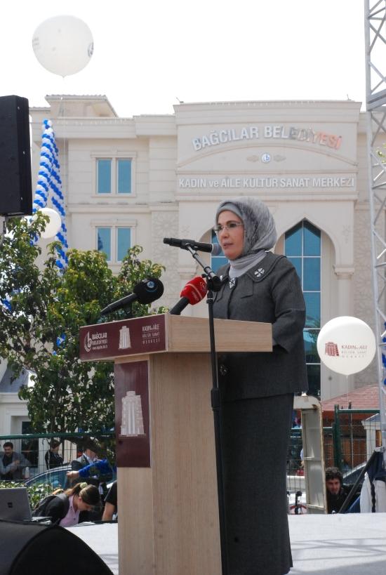 Kadın ve Aile Kültür Sanat Merkezin Emine Erdoğanın Açılış Konuşması