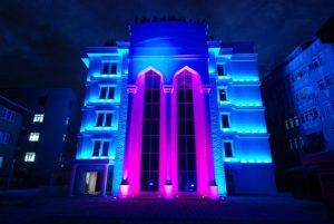 Kadın ve Aile Kültür Sanat Merkezi Gece Görünüşü