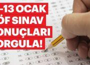 AÖF Sınav Sonuçları Açıklandı 12-13 Ocak 2019 Açık Öğretim sınav sonuçları açıklandı