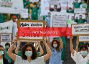 İspanya'da sağlık çalışanları çalışma koşullarını protesto etti