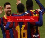 Lionel Messi atıyor, Barcelona kazanıyor